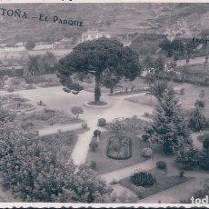 Postales: POSTAL FOTOGRAFICA DE SANTOÑA - EL PARQUE - FOTO CHOLIN. Lote 110744787