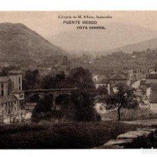 Postales: PUENTE VIESGO.- SANTANDER - VISTA GENERAL . LIBRERÍA DE M. ALBIRA, SANTANDER - HAUSER Y MENET. Lote 110756171