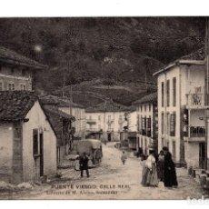 Postales: PUENTE VIESGO.- SANTANDER - CALLE REAL . LIBRERÍA DE M. ALBIRA, SANTANDER - HAUSER Y MENET. Lote 110756311