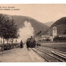 Postales: PUENTE VIESGO.- SANTANDER - LA IGLESIA . LIBRERÍA DE M. ALBIRA, SANTANDER - HAUSER Y MENET. Lote 110756367