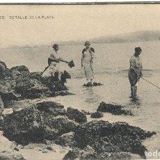 Postais: POSTAL - SUANCES - CANTABRIA - DETALLE DE LA PLAYA - FOTOTIPIA HAUSER Y MENET. Lote 110757611