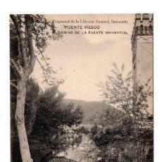 Postales: PUENTE VIESGO.- SANTANDER - CAMINO DE LA FUENTE MANANTIAL . PROPIEDAD DE LA LIBRERÍA GENERAL. Lote 110758127