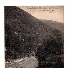 Postales: PUENTE VIESGO.- SANTANDER - RIO PAS . LIBRERÍA DE M. ALBIRA, SANTANDER - HAUSER Y MENET. Lote 110824151