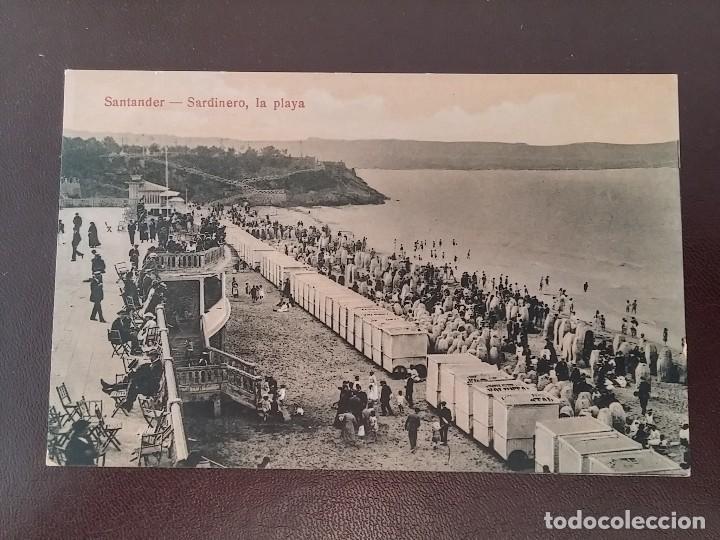 POSTAL DE SANTANDER, SARDINERO, LA PLAYA, ED. J. PALACIOS, NO CIRCULADA. (Postales - España - Cantabria Antigua (hasta 1.939))