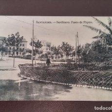 Postales: POSTAL DE SANTANDER, SARDINERO, PASEO DE PIQUIO, ED. J. PALACIOS, NO CIRCULADA.. Lote 110896535