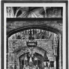 Postales: CASTRO URDIALES .- INTERIOR DE LA IGLESIA DE SANTA MARIA 1958 .- CIRCULADA . Lote 111758907