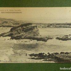 Postales: POSTAL - ESPAÑA - SANTANDER - SARDINERO - LIBRERÍA DE M. ALBERO - ESCRITA CON SELLO -. Lote 112079215