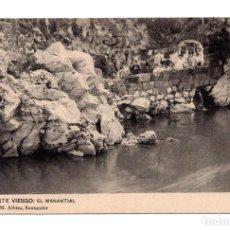 Postales: PUENTE VIESGO.- SANTANDER - CAMINO DE LA FUENTE MANANTIAL . HAUSEN Y MENET. LIBRERÍA M.ALBIRA. Lote 113950579
