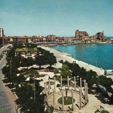 Postales: CASTRO URDIALES - PARQUE AMESTOY Y PUERTO (SANTANDER - CANTABRIA) - AÑOS 60/70. Lote 114521795