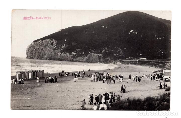 SANTOÑA. - CANTABRIA.- PLAYA BERRIA. FOTOGRAFÍA GONZALEZ HERMANOS (Postales - España - Cantabria Antigua (hasta 1.939))