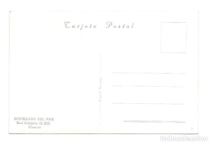 Postales: SANTILLANA DEL MAR. REAL COLEGIATA. CLAUSTRO SIGLO XIII - Foto 2 - 115384263