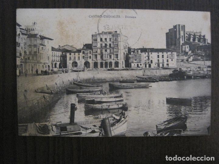 CASTRO URDIALES - POSTAL ANTIGUA - DARSENA -VER FOTOS - (52.298) (Postales - España - Cantabria Antigua (hasta 1.939))
