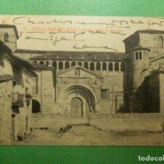 Postales: POSTAL - ESPAÑA - SANTANDER - 9.- SANTILLANA DEL MAR - FACHADA DE LA COLEGIATA - THOMAS - ED. A. Lote 118727287
