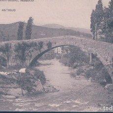 Postales: POSTAL LIERGANES - PUENTE ANTIGUO - LIBRERIA GENERAL - SANTANDER - HAUSER Y MENET . Lote 119611603