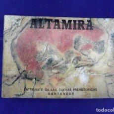 Postales: COLECCIÓN 9 POSTALES DE LAS CUEVAS DE ALTAMIRA (90'S) DESPLEGABLE EN FUELLE SANTANDER SANTILLANA. Lote 120135763