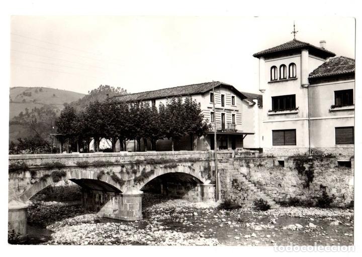 TARJETA POSTAL LIERGANES. PUENTE SOBRE EL RIO MIERA. Nº 1011. EDICIONES ARRIBAS (Postales - España - Cantabria Moderna (desde 1.940))