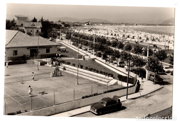 TARJETA POSTAL LAREDO. TENIS CLUB Y PLAYA. Nº 1031. ED. ARRIBAS (Postales - España - Cantabria Moderna (desde 1.940))