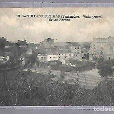 Postales: TARJETA POSTAL SANTILLANA DEL MAR - VISTA GENERAL DE LAS ARENAS. 18. FOTO MONTES. Lote 121835247