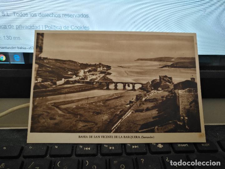 CANTABRIA - ANTIGUA POSTAL BAHIA DE SAN VICENTE DE LA BARQUERA, SANTANDER Nº 7 (Postales - España - Cantabria Antigua (hasta 1.939))