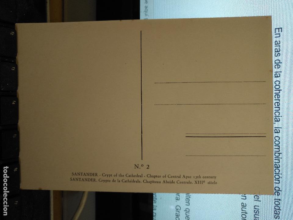 Postales: CANTABRIA - ANTIGUA POSTAL CRIPTA DE LA CATEDRAL CAPITEL ABSIDE SIGLO XIII SANTANDER Nº 2 - Foto 2 - 122094459
