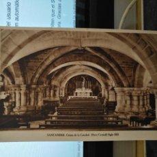 Postales: CANTABRIA - ANTIGUA POSTAL CRIPTA DE LA CATEDRAL NAVE CENTRAL SIGLO XIII SANTANDER Nº 1. Lote 122094591