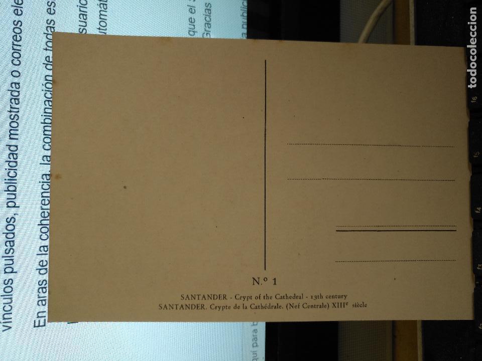 Postales: CANTABRIA - ANTIGUA POSTAL CRIPTA DE LA CATEDRAL NAVE CENTRAL SIGLO XIII SANTANDER Nº 1 - Foto 2 - 122094591