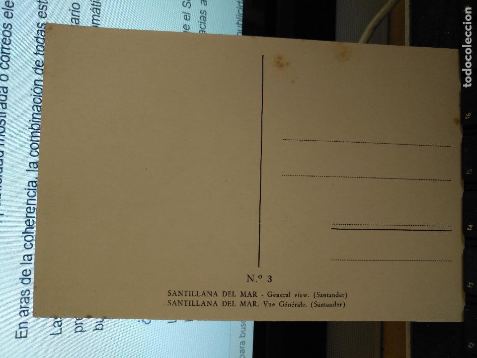 Postales: CANTABRIA - ANTIGUA POSTAL SANTILLANA DEL MAR POSTAL VISTA GENERAL SANTANDER Nº 3 - Foto 2 - 122094707