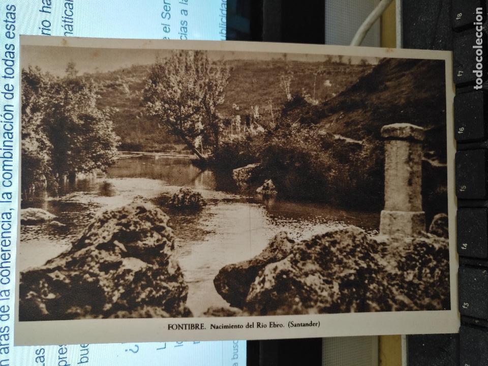 CANTABRIA - ANTIGUA POSTAL FONTIBRE NACIMIENTO DEL RIO EBRO SANTANDER Nº 10 (Postales - España - Cantabria Antigua (hasta 1.939))
