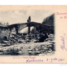 Postales: RECUERDO DE SANTANDER, PUENTE LIERGANES, SERIE IA NO. 6, DUOMARCO. Lote 122170275