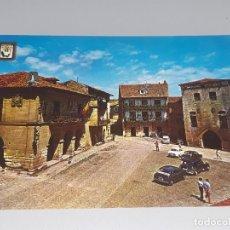 Postales: ANTIGUA POSTAL DE SANTILLANA DEL MAR - CANTABRIA - PLAZA DEL AYUNTAMIENTO - ED. DOMINGUEZ AÑOS 60. Lote 122182135