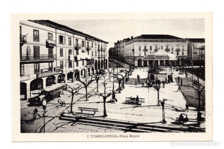 TORRELAVEGA.- PLAZA MAYOR. AUTOBUS DE LINEA. EDICIÓN GRÁFICAS FERNÁNDEZ. (Postales - España - Cantabria Antigua (hasta 1.939))