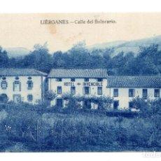 Postales: LIÉRGANES (CANTABRIA) .- CALLE DEL BALNEARIO. Lote 172927903
