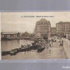 Postales: TARJETA POSTAL. SANTANDER, CANTABRIA - MUELLE DE PUERTO CHICO. 13.. Lote 122637927