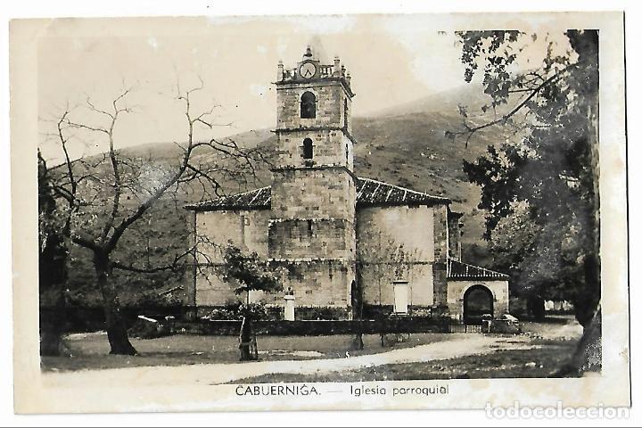 CABUÉRNIGA. IGLESIA PARROQUIAL. (Postales - España - Cantabria Antigua (hasta 1.939))