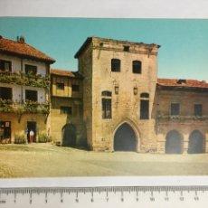Postales: POSTAL. SANTILLANA DEL MAR. CANTABRIA. TORRE DE LOS BORJAS. ED. ALARDE. H. 1960?. Lote 124565690
