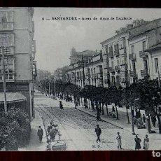 Postales: POSTAL DE SANTANDER, ACERA DE AMOS DE ESCALANTE, N. 6. ED. M.N. PARIS. SIN CIRCULAR. Lote 125826003
