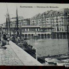Postales: POSTAL DE SANTANDER, DARSENA DE MOLNEDO, ED. J. PALACIOS, NO CIRCULADA.. Lote 125828179
