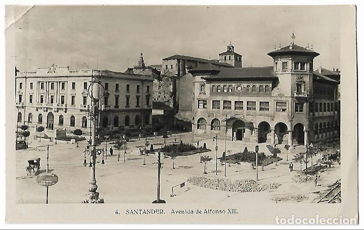 SANTANDER. AVENIDA DE ALFONSO XIII. Nº4. (Postales - España - Cantabria Antigua (hasta 1.939))