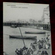 Postales: POSTAL DE SANTANDER, TRAINERAS CON SARDINAS, LIBRERIA GENERAL, HAUSER Y MENET. CIRCULADA.. Lote 126479011