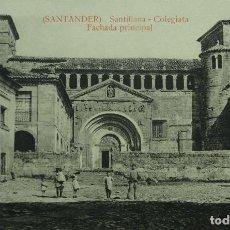 Postales: SANTILLANA DEL MAR - COLEGIATA - ENTRADA PRINCIPAL. Lote 126532935