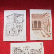 Postales: LOTE POSTALES SANTILLANA DEL MAR CLAUSTRO COLEGIATA TORRE DIBUJOS DE GALLEGO. Lote 128360843
