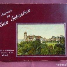 Postales: SAN SEBASTIAN.PRECIOSO ÁLBUM CON 20 VISTAS DE LA CIUDAD.ED.POR DR.TREKLER&CO.DE LEIPZIG,HACIA 1908.. Lote 128378839