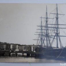 Postales: SANTANDER. LA FRAGATA D. JUAN POMBO E EL MUELLE DE MALIAÑO. 1890. Lote 129027798