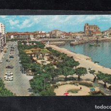 Postales: 11-CASTRO URDIALES. PARQUE DE AMESTOY Y PUERTO. Lote 129102395