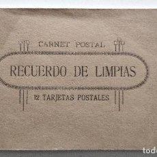 Postales: CARNET POSTAL RECUERDO DE LIMPIAS - CONTIENE 9 DE LAS 12 POSTALES, INCLUIDA LA PANORÁMICA. Lote 130492218