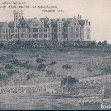 Postales: POSTAL SANTANDER - SARDINERO - LA MAGDALENA - PALACIO REAL - LIBRERIA DE M ALBIRA - CIRCULADA. Lote 130998676