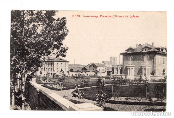 TORRELAVEGA. (CANTABRIA).- Nº 19. BARREDA.OFICINAS DE SOLVAY. THOMAS, BARCELONA. (Postales - España - Cantabria Antigua (hasta 1.939))