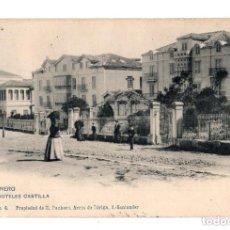 Postales: SANTANDER (CANTABRIA).- SARDINERO, HOTELES CASTILLA, II SERIE NUM.4, PROPIEDAD DE R. PACHECO. Lote 132037838