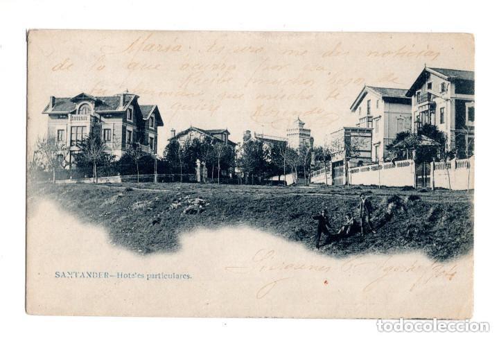 SANTANDER (CANTABRIA).- HOTELES PARTICULARES (Postales - España - Cantabria Antigua (hasta 1.939))