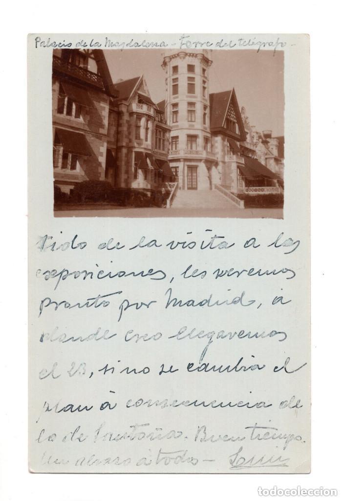 SANTANDER.- CANTABRIA - PALACIO DE MAGDALENA FOTOGRAFICA (Postales - España - Cantabria Antigua (hasta 1.939))